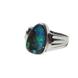 MOUNTAIN TOP VIEW STERLING SILVER OPAL RING