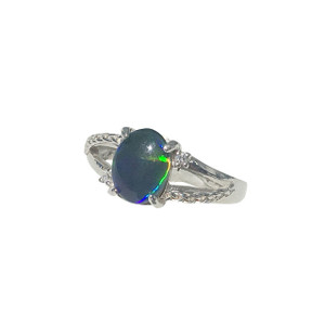 PRECIOUS OPAL STERLING SILVER RING