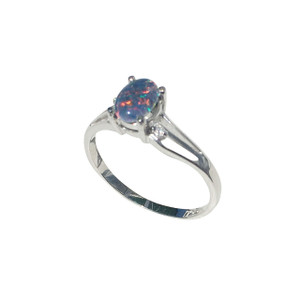 AZURE WAVE STERLING SILVER OPAL RING