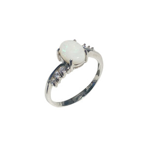 INTENSE LOVER STERLING SILVER OPAL RING
