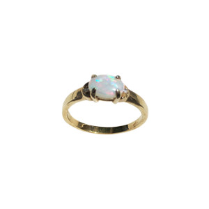 ELEGANT LOVE 18KT GOLD PLATED OPAL RING