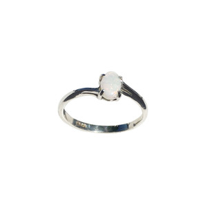 DEDICATED LOVE STERLING SILVER OPAL RING