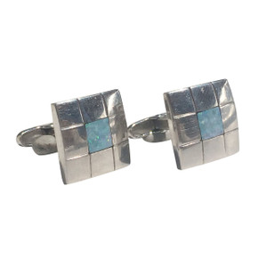MOSAIC SQUARE OPAL CUFF LINKS