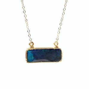 DEEP ELECTRIC OCEAN OPAL NECKLACE