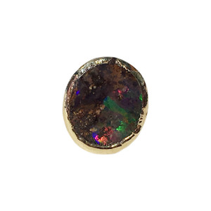 RAINBOW HOLOGRAM SINGLE STUD OPAL