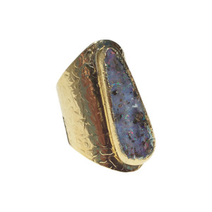 ELECTRIC LANE SOLID OPAL RING