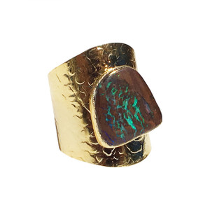 ELECTRIC CORAL CREEK OPAL RING