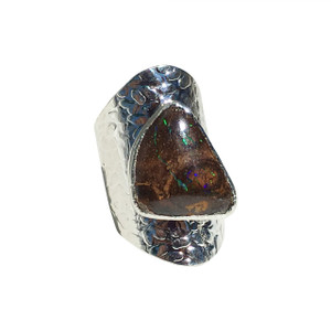 ELECTRIC NIGHT SOLID OPAL RING