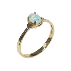 PETITE LOVE 14kt GOLD OPAL RING