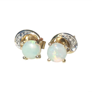 SPIRITUAL LOVE 9kt GOLD OPAL EARRINGS