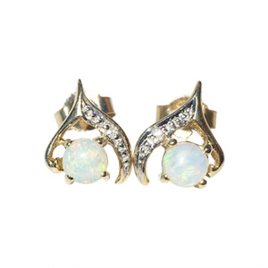 COMPLETE CONFIDENCE 9kt GOLD OPAL EARRINGS
