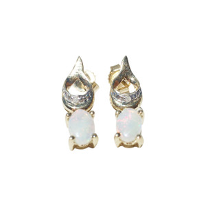 BEDAZZLED LOVE 9kt GOLD OPAL EARRINGS