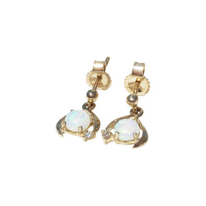 HEART'S DESIRE 9kt GOLD OPAL EARRINGS