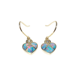 NURTURING HEARTS 14kt GOLD OPAL EARRINGS