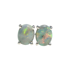 RAVISHING LOVE STERLING SILVER OPAL EARRINGS