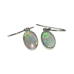 MOON LIGHT STERLING SILVER OPAL EARRINGS