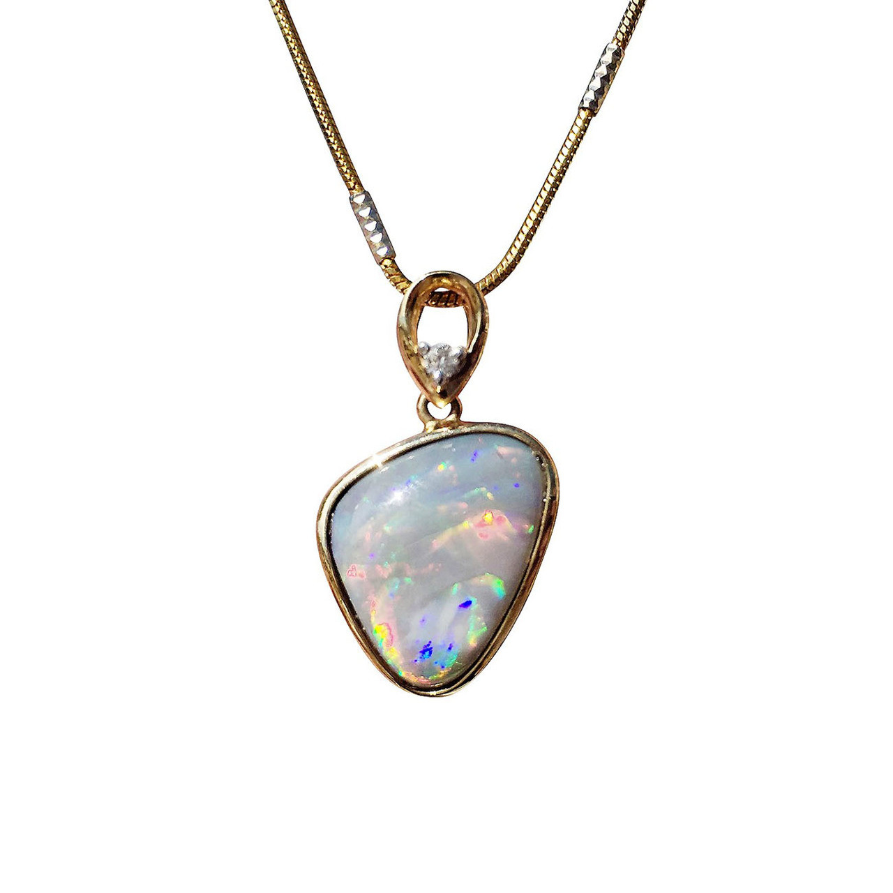 jewelry white black product gold pear shape shipping today opal oravo pendant overstock free watches necklace diamond created