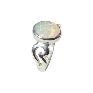 BREATHTAKING DOME OF LOVE STERLING SILVER OPALRING
