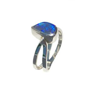 BLUE SYMPHONY STERLING SILVER OPAL RING