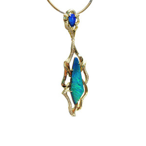 """LA PRINCESSE"" DIAMOND AND 18kt GOLD OPAL NECKLACE"