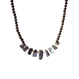 BOULDER DROP BEAD OPAL NECKLACE