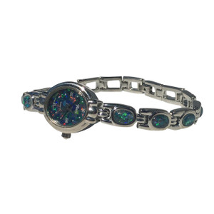 STUNNING STERLING SILVER OPAL WATCH