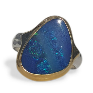 TWO TONED OPAL RING
