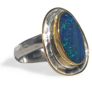 GREEN & BLUE OPAL RING