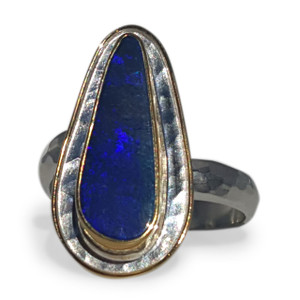 MIDNIGHT BLUE OPAL RING
