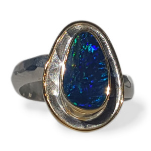 MULTI COLOR OPAL RING