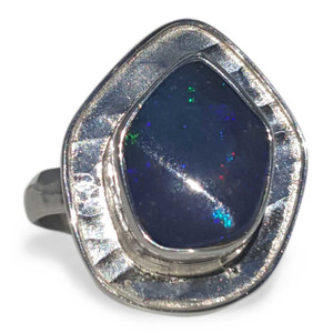 DEEP BLUE GALAXY OPAL RING