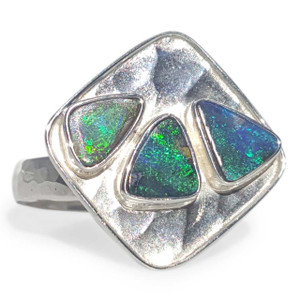 SOLID OPAL RING TRIO