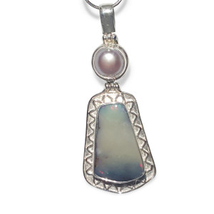 SERENE FRESHWATER PEARL AND OPAL NECKLACE