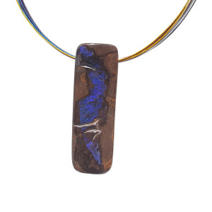 INDIGO BOULDER OPAL NECKLACE