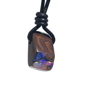FLUORESCENT PURPLE BOULDER OPAL NECKLACE