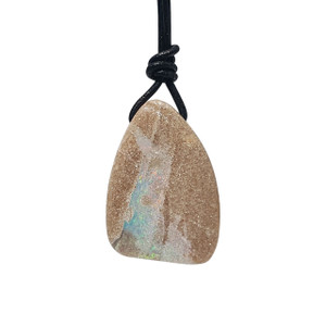 DELICATE LIGHT BLUE & PINK SANDSTONE OPAL NECKLACE