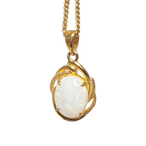 BOLD CONFIDENCE 18kt GOLD PLATED OPAL NECKLACE