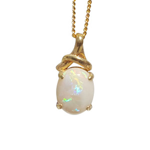 MIRROR BALL 18kt GOLD PLATED OPAL NECKLACE