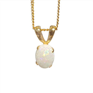 PRIZE MEDAL 18kt GOLD PLATED OPAL NECKLACE