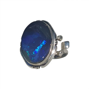 DEEP BLUE OCEAN STERLING SILVER RING