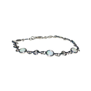 products bolo pull sterling tennis silver adjustable white created opal large round string bracelet