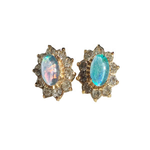 DELICATE SKY 18kt GOLD PLATED OPAL EARRINGS