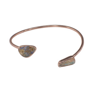 ELECTRIC OUTBACK 18KT ROSE GOLD PLATED SOLID OPAL BRACELET