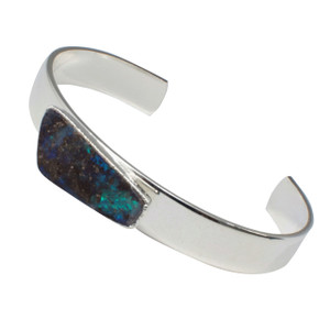 ELECTRIC OCEAN OPAL STERLING SILVER PLATED BRACELET