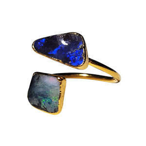 ELECTRIC MORNING SPIRIT 18kt GOLD PLATED OPAL RING