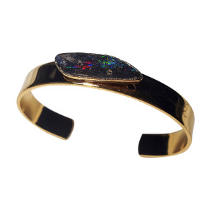 ELECTRIC SHINE 18kt GOLD PLATED OPAL BRACELET