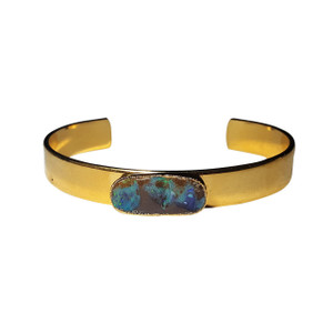ELECTRIC BLUE SHINE 18kt GOLD PLATED OPAL BRACELET