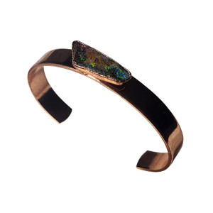 ELECTRIC DARK NIGHT 18kt GOLD PLATED OPAL BRACELET