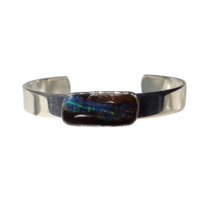 ELECTRIC NIGHT SKY STERLING SILVER PLATED OPAL BRACELET