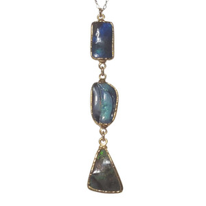ELECTRIC BOULDER DROP 18kt GOLD PLATED OPAL NECKLACE